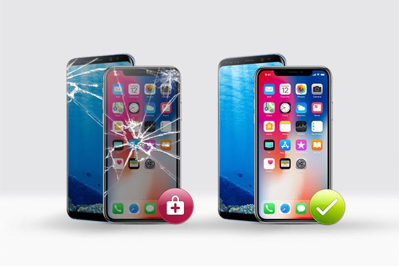 تعویض گلس ال سی دی آیفون ایکس | تعمیرات تخصصی اپل